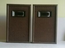 Pair of Vintage JVC Nivico Wooden 2 Way Speaker System w/Horn Diffuser RSS-962