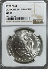 1997-P Law Officers Memorial NGC MS69