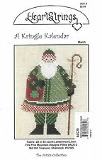 Christmas Santa A Kringle Kalendar by Heart Strings Cross Stitch Chart