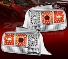 FOR 05-09 FORD MUSTANG CHROME HOUSING DIAMOND CUT LED LOOK TAIL BRAKE LAMP LIGHT