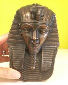 Egyptian Tutankamun Head Bronze Finish Figurine Ornament   Veronese 2000