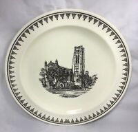 "VTG 10"" Wedgwood China PLATE Rockefeller Memorial Chapel 1928 University Chicago"