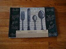 Home Decor  Kitchen Theme Tapestry Placemats 4 pcs 13x19  Silverware  BISTRO !!