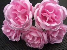 5 Boda nupcial Bebé Rosa Flor Rosa Pelo Prendedores Clips Grips Hecho A Mano