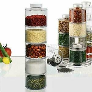 BRAND NEW CRYSTAL ACRYLIC SPICE TOWER CAROUSEL WITH 12 BOTTLE