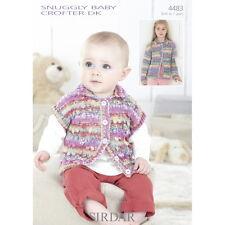4483 Sirdar Snuggly Baby Crofter DK Girls Jackets