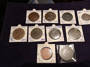 brazil lot of 10 coins  with xx reis 1699 D.Pedro II & other rare coins excelent