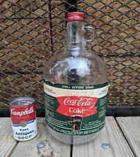 1960's COCA COLA Syrup Jug Fishtail One Gallon Glass Original Cap &  Label
