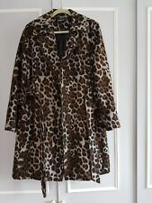 Ellen Tracy Leopard Wool Wrap Coat         Size 18