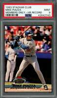 1993 stadium club members only MIKE PIAZZA los angeles dodgers rookie PSA 9