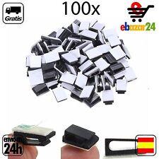 100x Clips Fijadores de cables organizadores cable Gancho atar clip *Envío GRATI