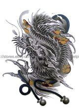 "US SELLER, Non-Permanent Tattoos Chinese dragon 8.25"" large arm temporary tattoo"