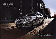 Preisliste 2012 Mercedes GLK-Klasse 26.3.12 price list Geländewagen Auto Pkw
