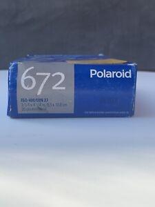 Polaroid 672 ISO 400/ DIN 27  Black & White instant pack film 20 Exp 2007-2009