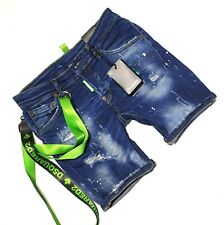 Dsquared2 Men's Summer Short Jeans Washed Blue Slim Fit Made in Italy Shorts