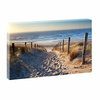 Weg zum Strand-Bilder auf Leinwand Poster Wandbild Kunstdruck 100 cm*65 cm 544
