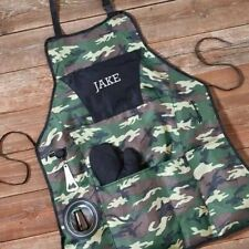 Engraved Camouflage Delux Grilling Apron Set Engraved Gifts Personalized Gifts