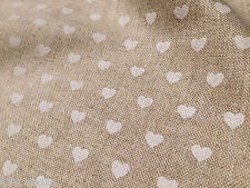 HEARTS Designer Curtain Upholstery Cotton Fabric Material christmas 140cm wide