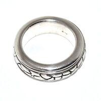 Bijou argent 925 bague anneau centre amovible  taille 56 ring