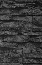 Vlies Tapete Steinoptik Naturstein Mauer schwarz AS Creation 7071-23 (1,98€/1qm)