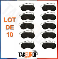 Lot 10 Masques De Nuit Pour Les Yeux - Masque Sommeil Noir Neuf