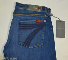 "Seven 7 for All Mankind WOMEN'S Jeans BLUE flare leg mid calf 28 x 20.5"" *NEW *"
