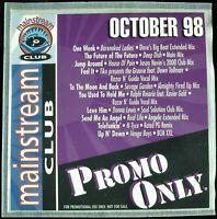 "PROMO ONLY ""MAINSTREAM CLUB OCTOBER 1998"" DJ PROMO CD COMPILATION 10 TRKS *NEW*"