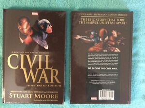 Civil War Illustrated Edition HC Stuart Moore Marvel Prose Graphic Novel New