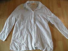BIBA schöne lange Bluse m. Stickerei weiß Gr. 44 NEUw. 316