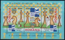 Rumänien 2002 Block 324 Schach Olympiade  chess ajedrez postfrisch **
