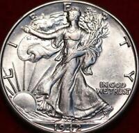 Uncirculated 1942-D Denver Mint Silver Walking Liberty Half Dollar