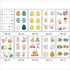 10 Pack Easter Egg Rabbit Child Kids Temporary Tatto Decor Scrapbooking Stickers