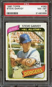 1980 Topps #290 Steve Garvey PSA 8 NM-MT Dodgers