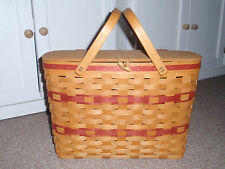 "Longaberger ""1996 Branch Advisor Award"" Basket W/Protector. Used"
