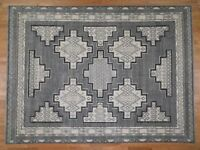 "8'10""x12' HandKnotted Pure Wool Peshawar with Southwestern Motifs Rug G43541"