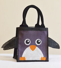 Jute Penguin Bag