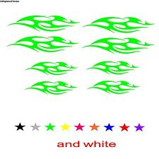 Bicycle Tribal Decals kit Stickers BMX Mountain TRI Cycle Green Helmet Reflector