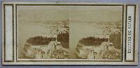Napoli Italia Sorrento Stereo Albumina Vintage verso 1860