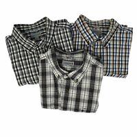 Lot of 3 Carhartt Short Sleeve Plaid Button Work Shirts XL Relaxed Fit Men's EUC