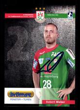 Robert Weber Autogrammkarte SC Magdeburg 2014-15 Original Signiert+A 138034