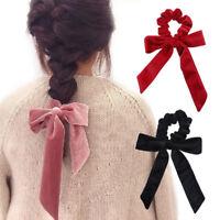 Women Hair Band Velvet Scrunchies Elastic Hair Rings Bow Ponytail Holder Tie