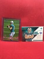 RYAN TANNEHILL lot 2  JERSEY ROOKIE RC football cards TITANS DOLPHINS Prime