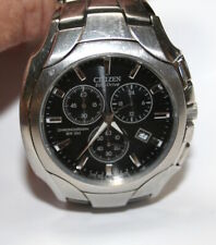 Citizen Eco Drive  Men's Chronograph WR100 Watch Black Dial