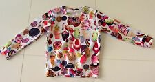 WHITE CUPCAKE SWEETS PASTRY CANDY DONUT PRINT SWEATER ICE CREAM COOKIE LOLLIPOP