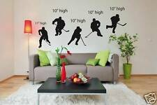 wall sticker 5 HOCKEY PLAYER TRICK CUSTOM graphic deco decor Silhouette