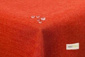 Tischdecke Leinenoptik Lotuseffekt abwaschbar 160x260 eckig terracotta/orange