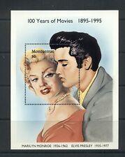 Montserrat #861 (1995 Movie Centenary sheet - Monroe and Elvis)  VFMNH  CV $7.50