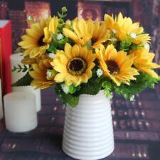 10pcs Fake Sunflower Head Artificial Flower Home Wedding Floral Decoration