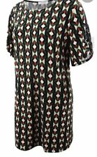 NWT Calvin Klein Plus Size Printed Shift  Dress 1X Tango/Black