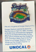 1980's L.A. DODGERS UNOCAL PIN (UNUSED) - OPENING DAY 1ST GAME AT DODGER STADIUM